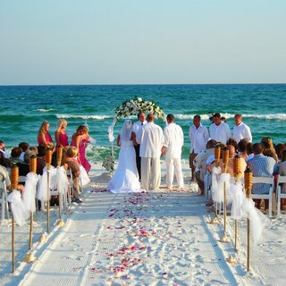 Beautiful Beach Themed Wedding | Triad DJ & Events